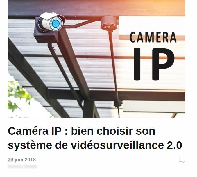 Alarme De Clerck : article caméra IP