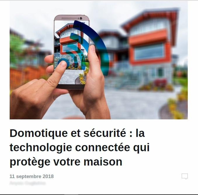 Alarme De Clerck : article domotique