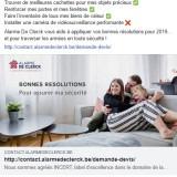 Alarme De Clerck : post Facebook résolutions
