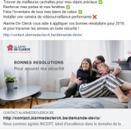 Alarme De Clerck : post Facebook résolutions