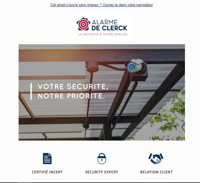 Alarme De Clerck : newsletter salon