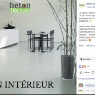 Béton Déco : publication Facebook
