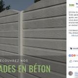 Béton Déco : publication Facebook palissades