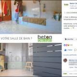Béton Déco : publication Facebook salle de bains