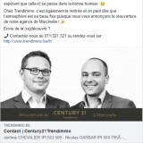 Century21 Trendimmo : publication Facebook