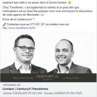 Century21 Trendimmo : publication Facebook