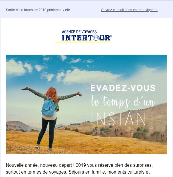Intertour : newsletter fêtes