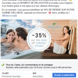Leisure Pools : publication Facebook sur les cabines infrarouges