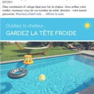 Leisure Pools - publication Facebook été