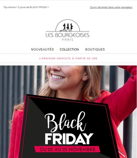 Les Bourgeoises : newsletter Black Friday