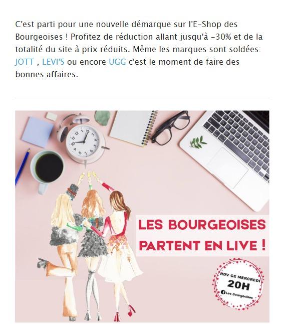 Les Bourgeoises : newsletter live