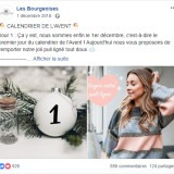 Les Bourgeoises : publication Facebook calendrier
