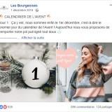 Les Bourgeoises : publication Facebook calendrier