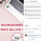 Les Bourgeoises : publication Facebook live
