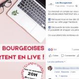 Les Bourgeoises : publication Facebook live
