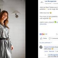 Les Bourgeoises : publication Facebook robe