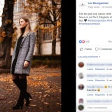 Les Bourgeoises : publication Facebook veste
