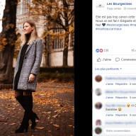 Les Bourgeoises : publication Facebook veste