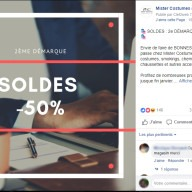 Mister Costumes : post Facebook soldes