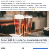 Orange Hotel : post Facebook bière