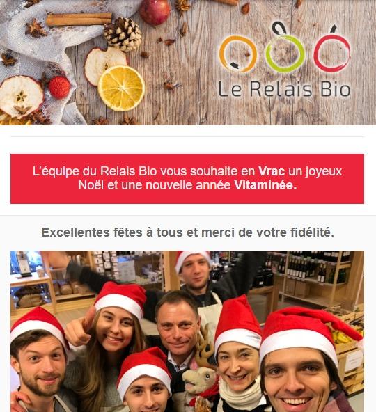 Relais Bio : newsletter fêtes