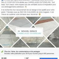 Servimat : publication Facebook sur les carrelages