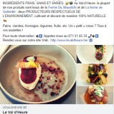Val d'Heure : post Facebook producteurs