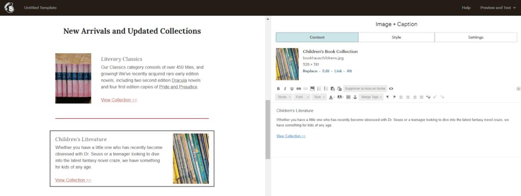 MailChimp : interface design